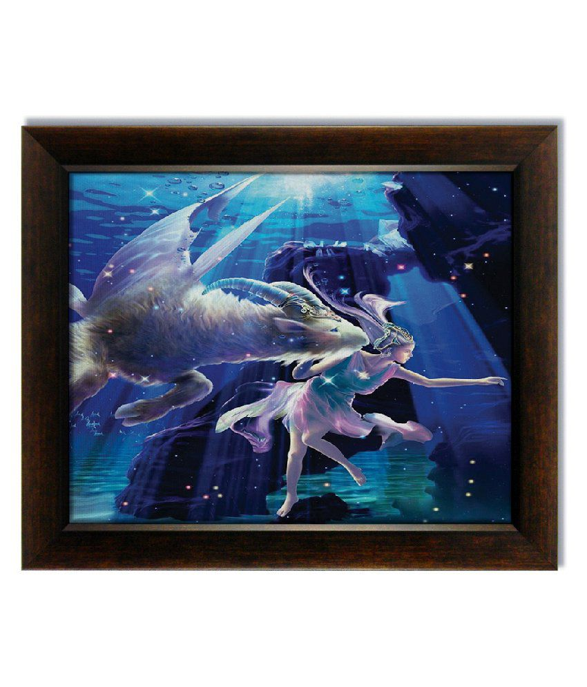 Stybuzz Capricorn Horoscope Frameless Canvas Painting