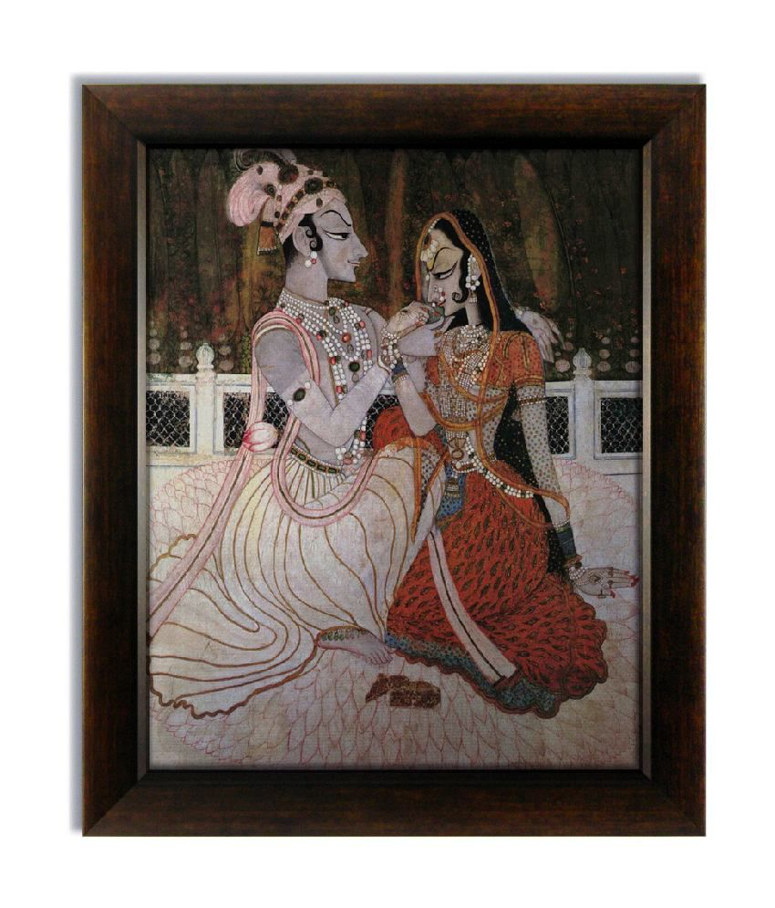 Stybuzz Royal King And Queen Frameless Canvas Painting