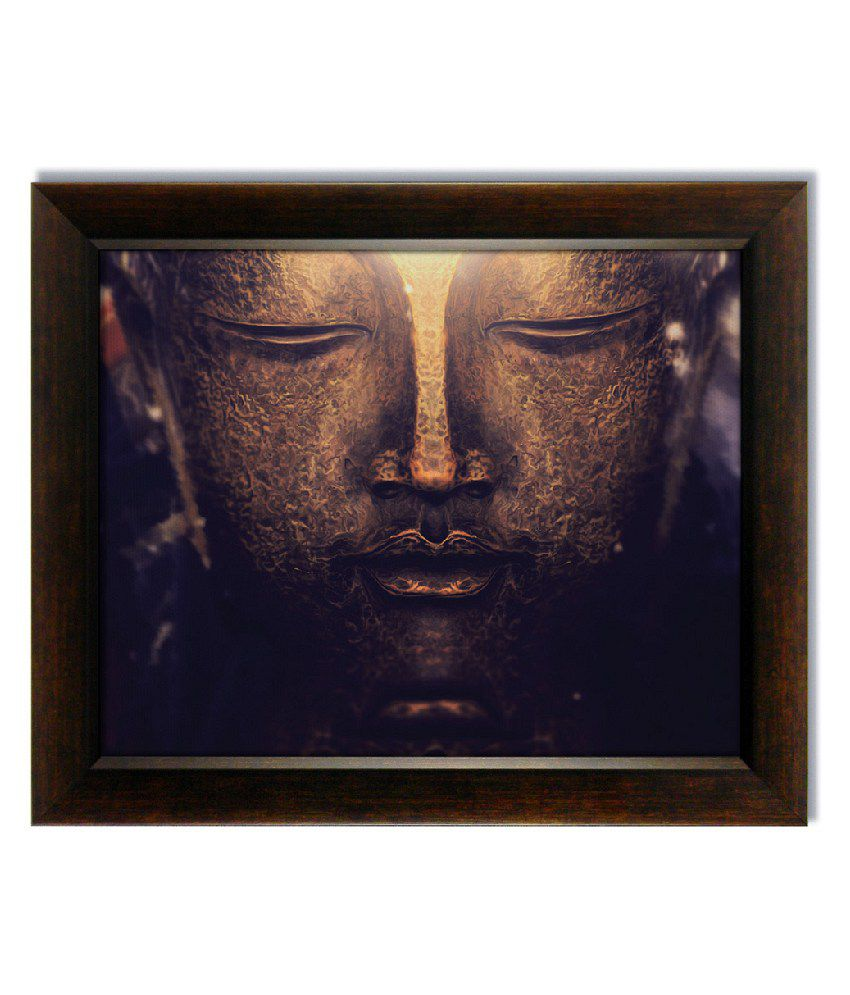 Stybuzz Serene Buddha Face Frameless Canvas Painting