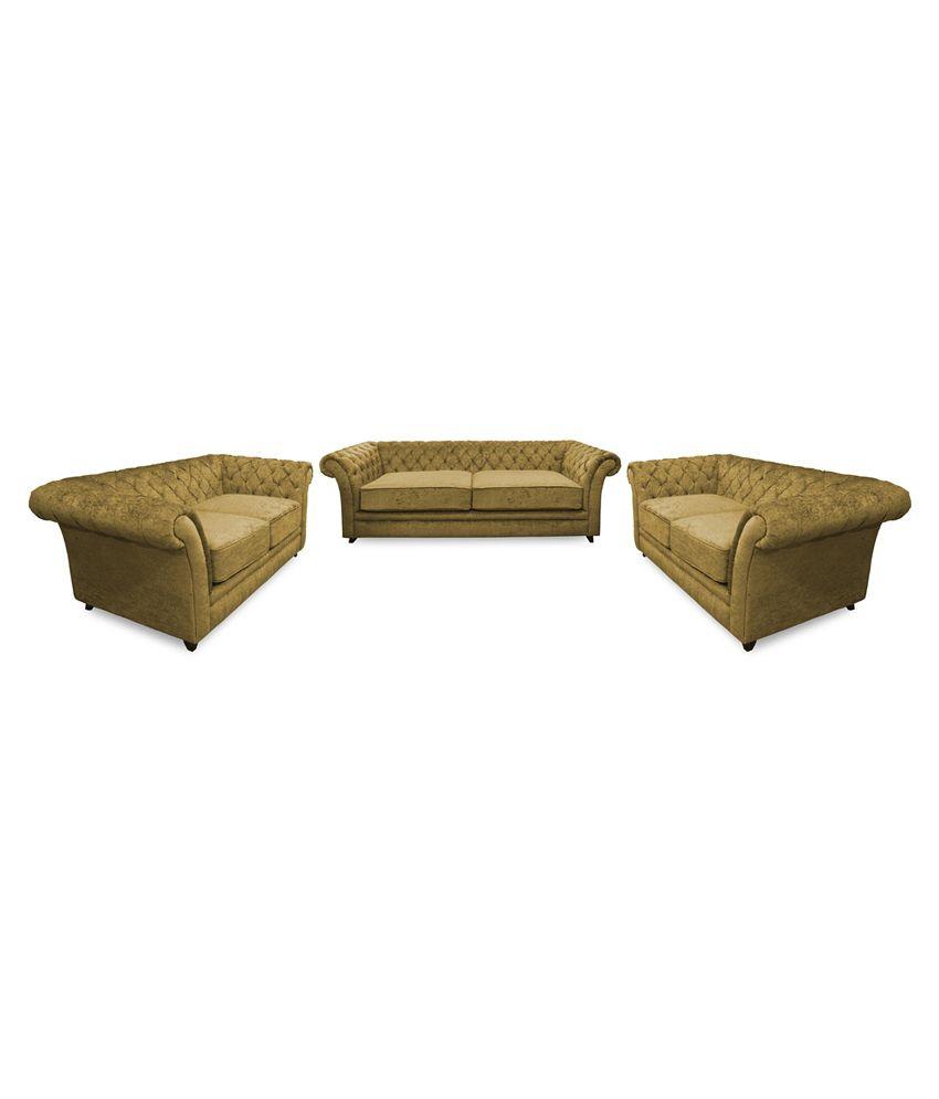 Flora Decor Empire 3+2+2 Sofa Set Beige