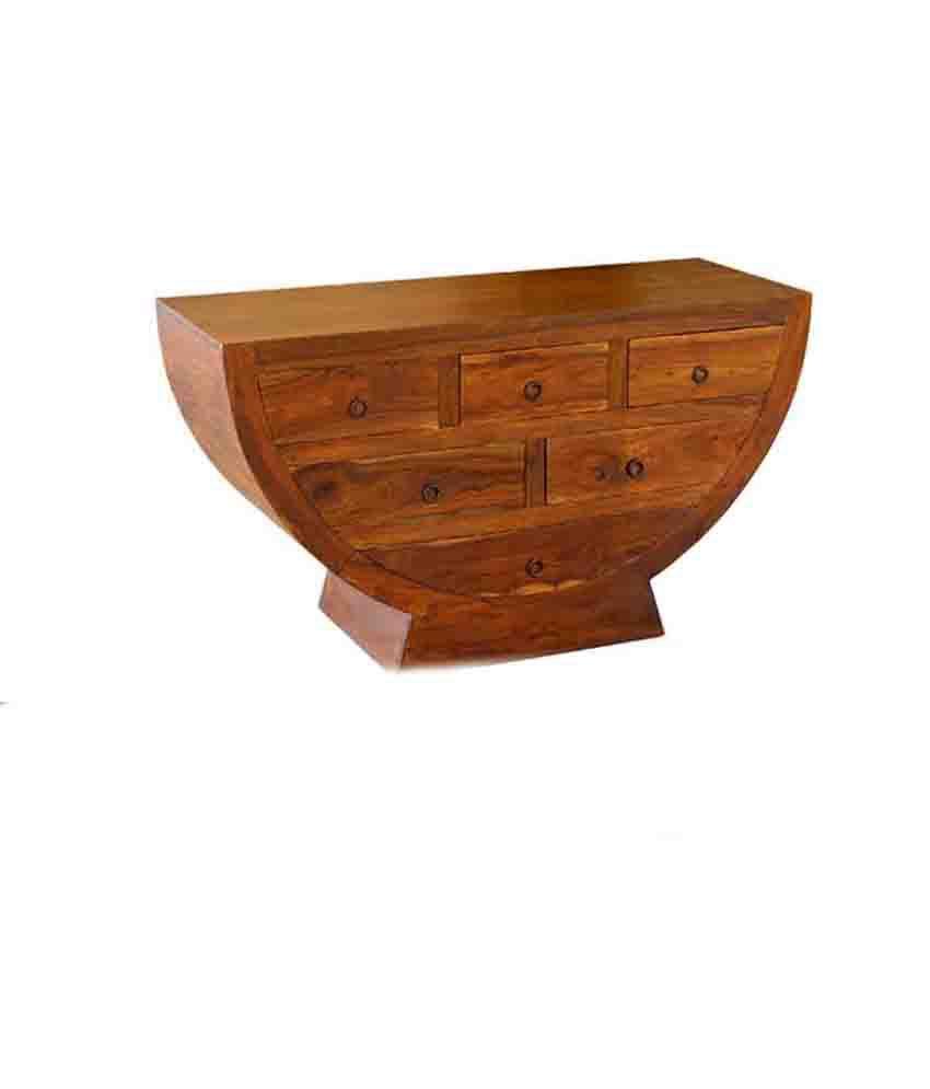 Nikunj Brown Sheesham Wood Cabinet Half Round Cupboard - Buy Nikunj ...