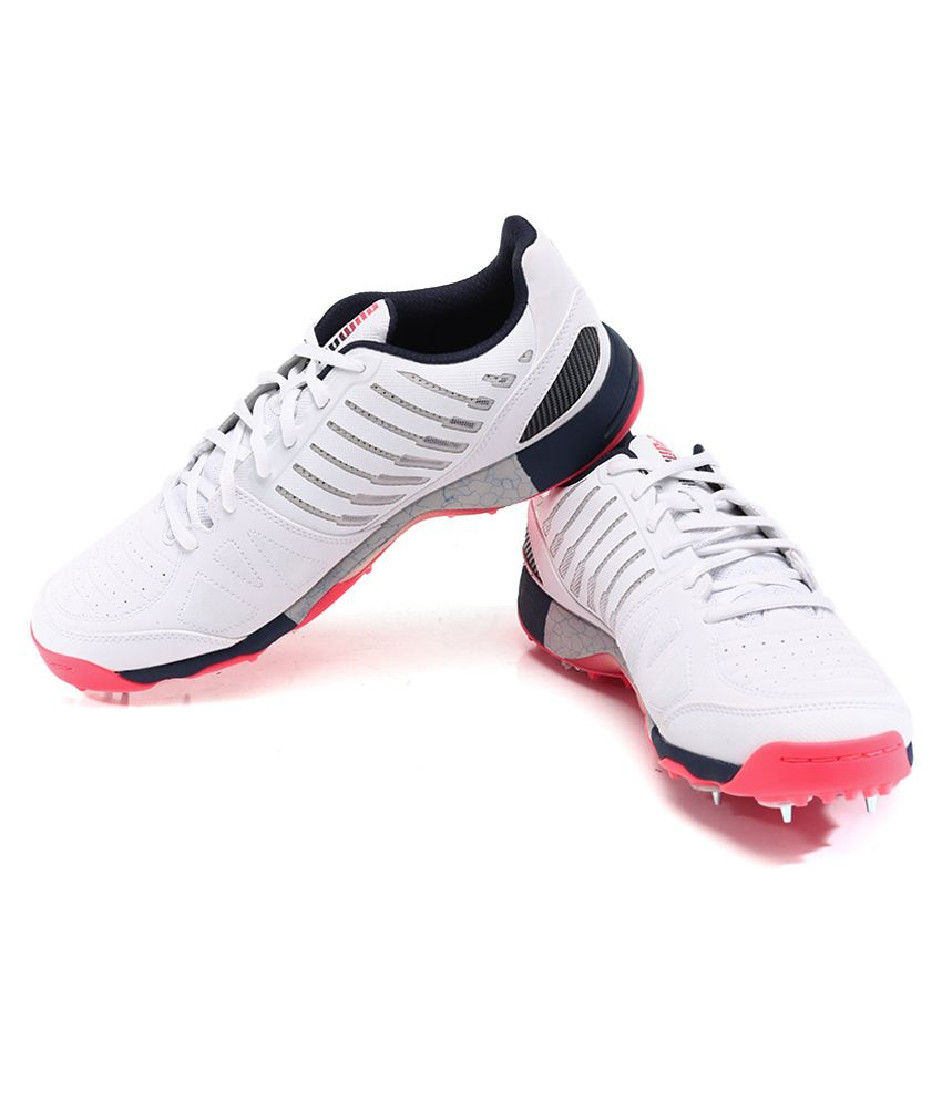 ... Puma Evospeed Cricket Spike 1.3 White Sport Shoes ...