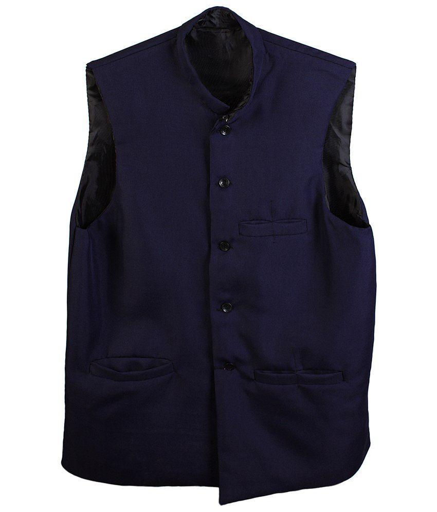 Selfieseven Blue Waistcoat