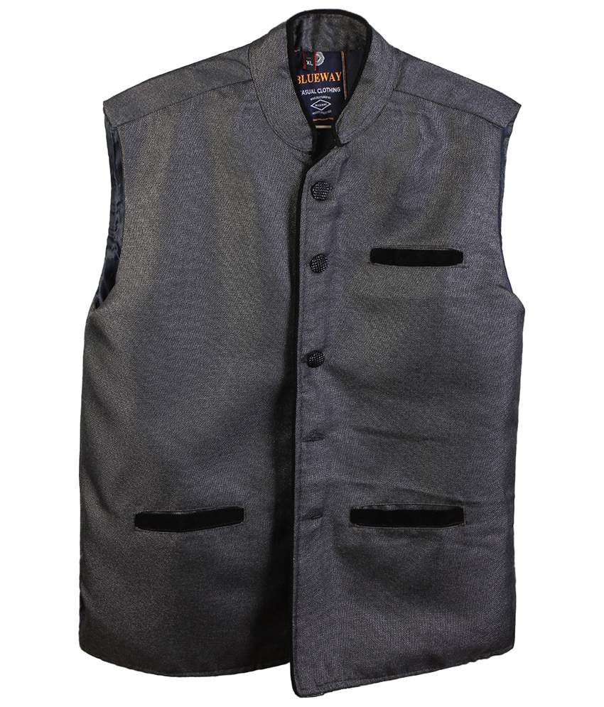 Selfieseven Good Looking Gray Waistcoat