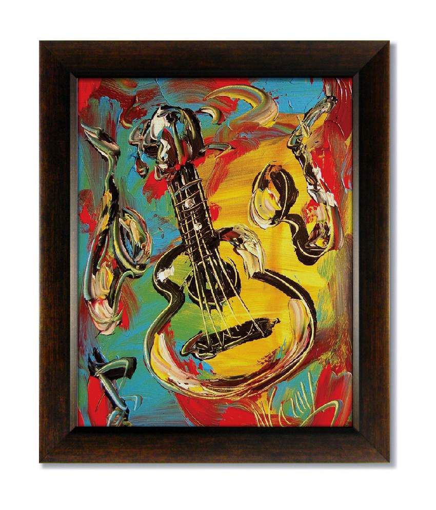 Stybuzz Guitar Frameless Canvas Painting