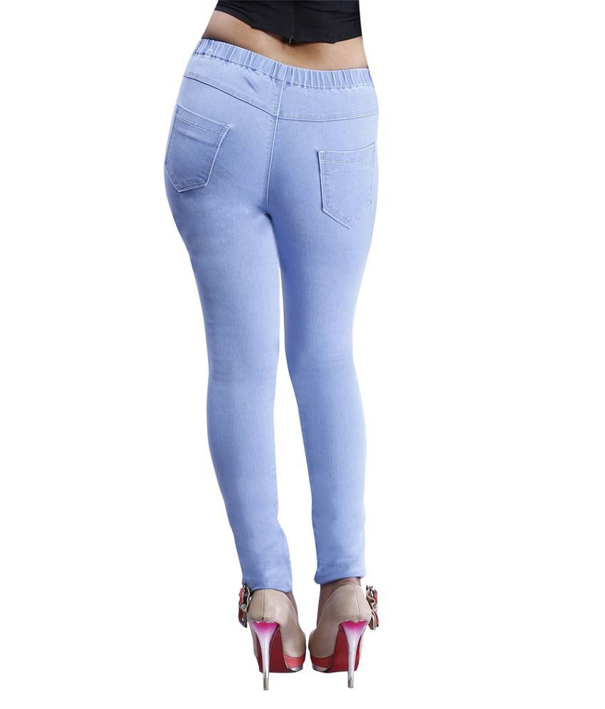 7eea9b8ed53769 Buy Devis Blue Denim Jeggings Online at Best Prices in India - Snapdeal