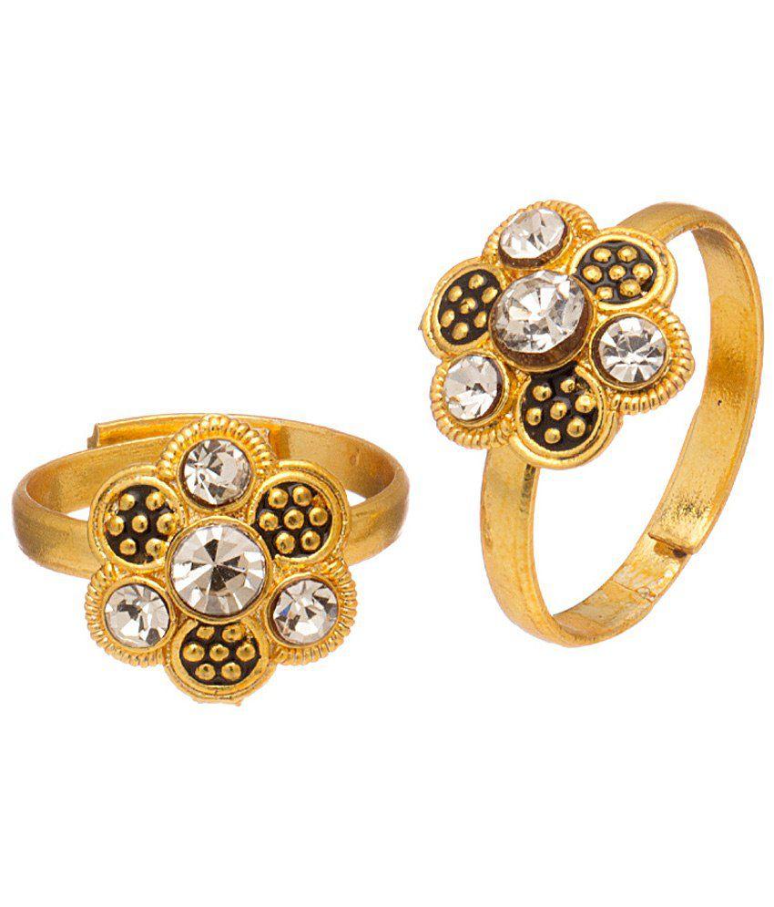 Voylla Gracious Gold Plated Toe Rings