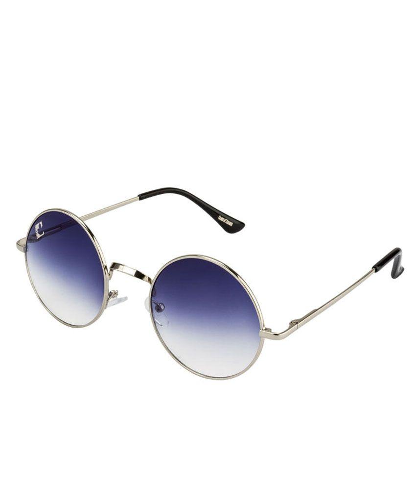 744e9f2055 Clark N  Palmer Dark Blue Gradient Silver Frame Round Sunglasses - Buy  Clark N  Palmer Dark Blue Gradient Silver Frame Round Sunglasses Online at  Low Price ...