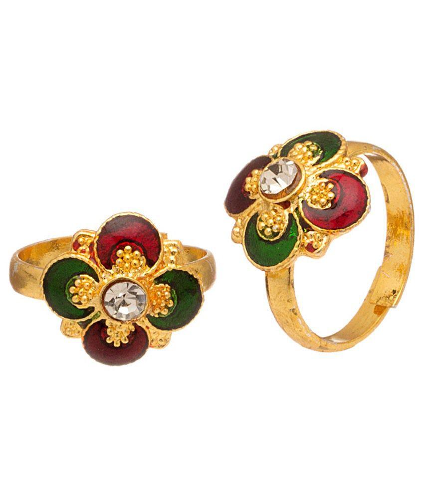Voylla Wonderful Gold Plated Toe Rings