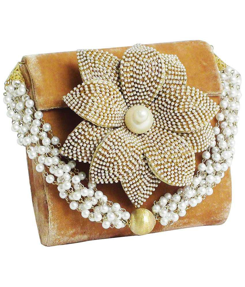 Fashion Jamun Fj0215002 Gold Clutch