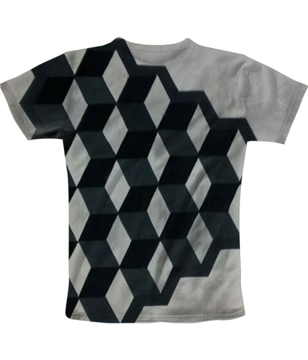 Freecultur Express Gray Cotton Blend T-shirt