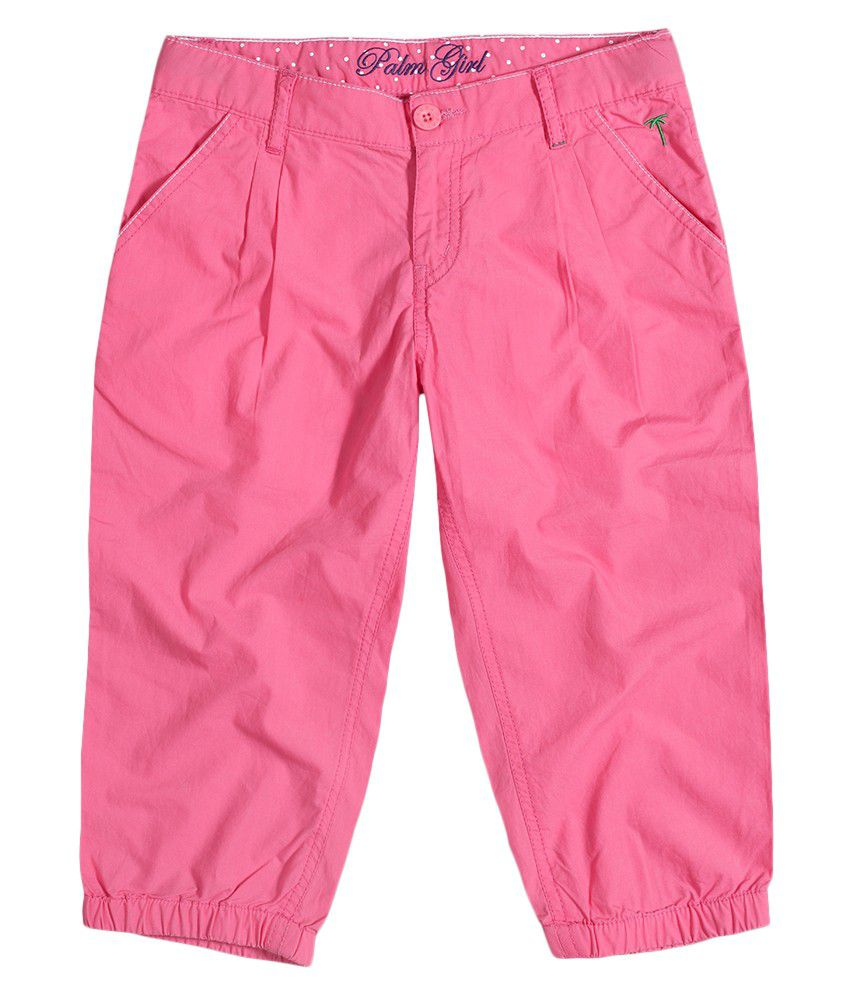 Gini & Jony Pink Cotton Capris