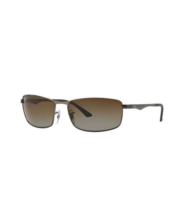 257d1db4b54 Ray-Ban RB3498 029 T5 Rectangle Gunmetal   Grey Sunglasses - Buy Ray-Ban  RB3498 029 T5 Rectangle Gunmetal   Grey Sunglasses Online at Low Price -  Snapdeal