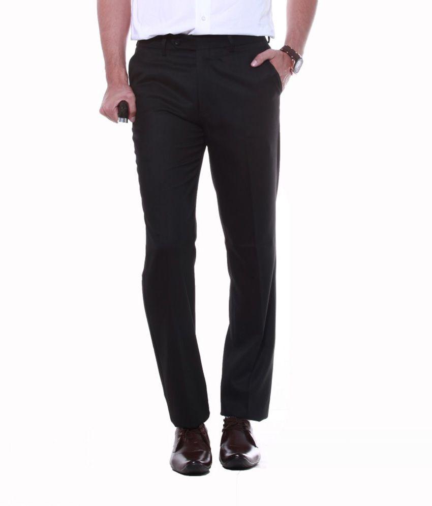 Sangam Apparels Divine Regular Fit Men's Black Trouser