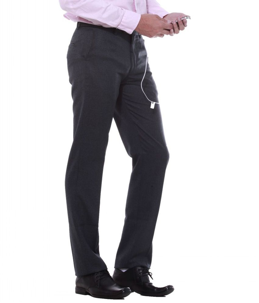Sangam Apparels Exclusive Regular Fit Men's Navy Trouser
