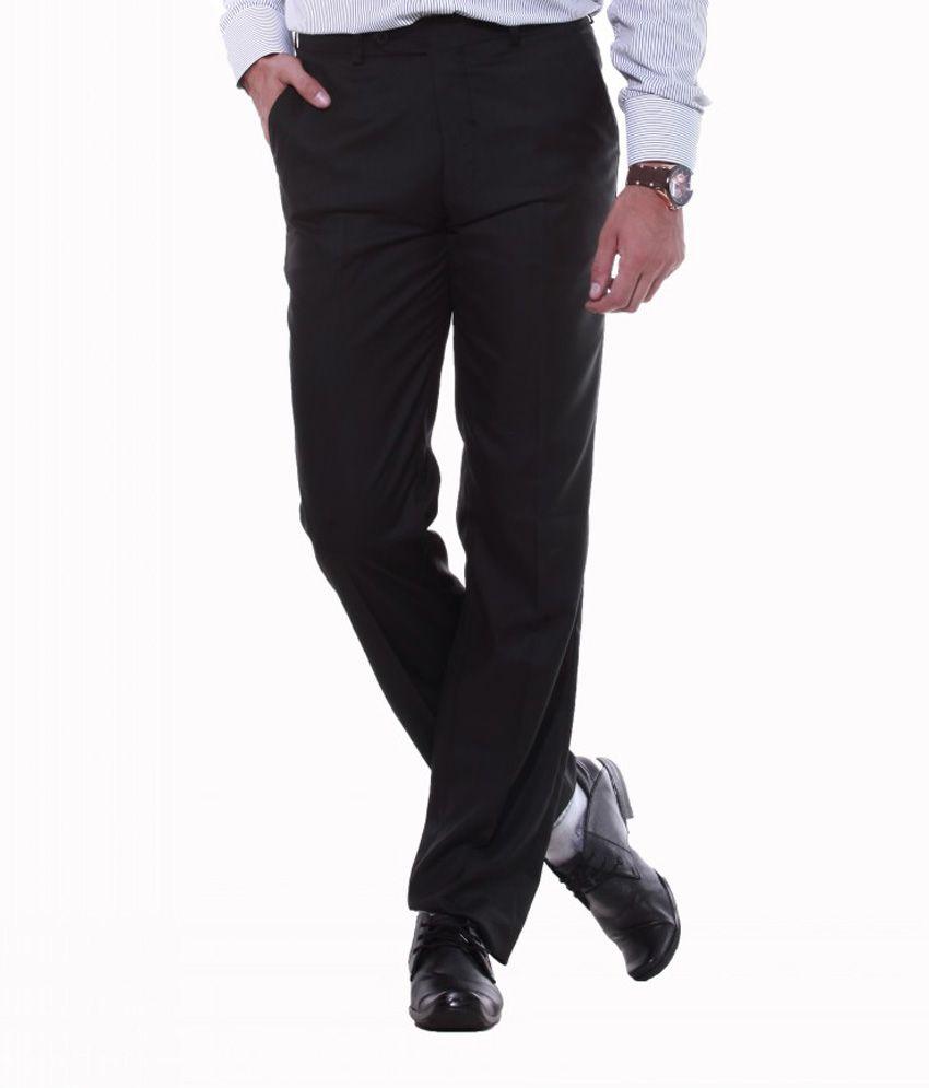 Sangam Apparels Groovy Regular Fit Men's Charcoal Trouser