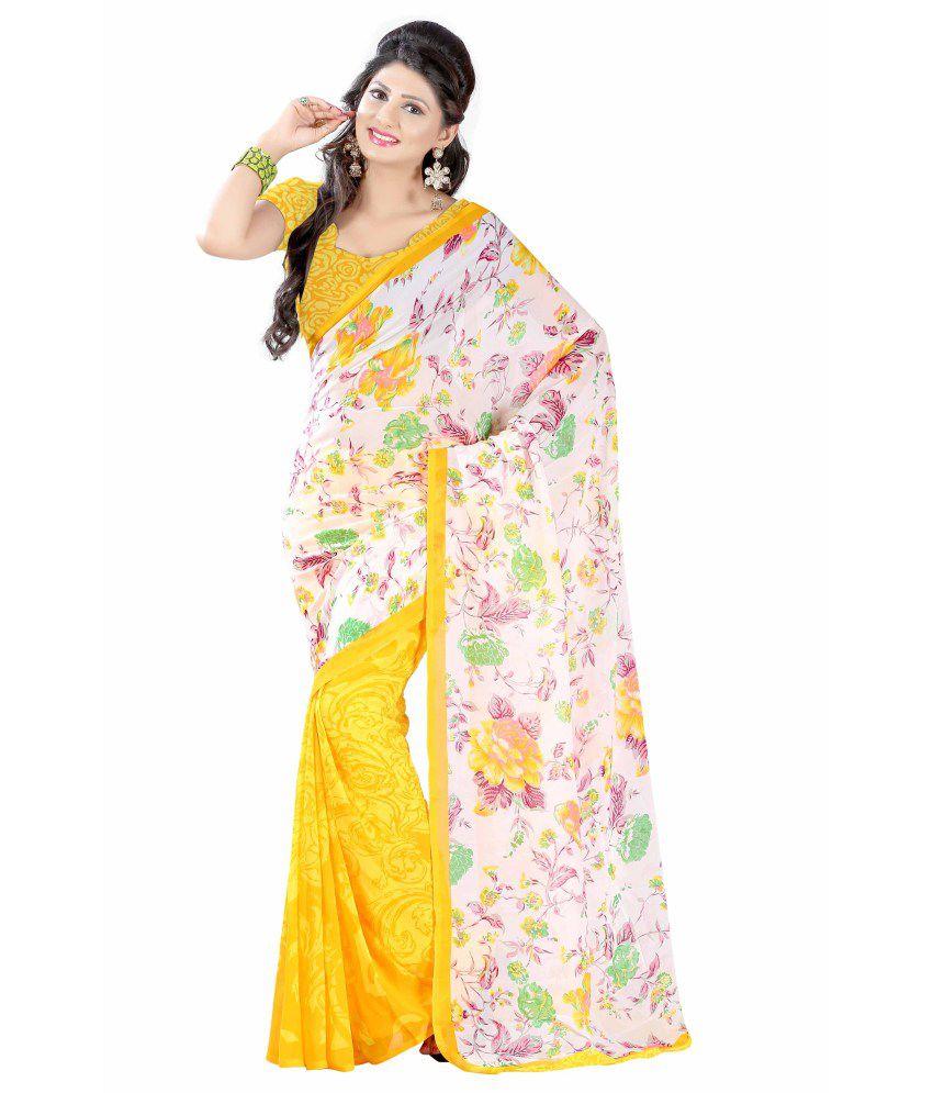 58e897ac4 Aisha Multi Color Faux Georgette Saree - Buy Aisha Multi Color Faux  Georgette Saree Online at Low Price - Snapdeal.com