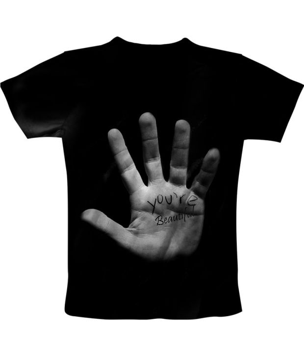 Freecultur Express Black Cotton Blend T-shirt