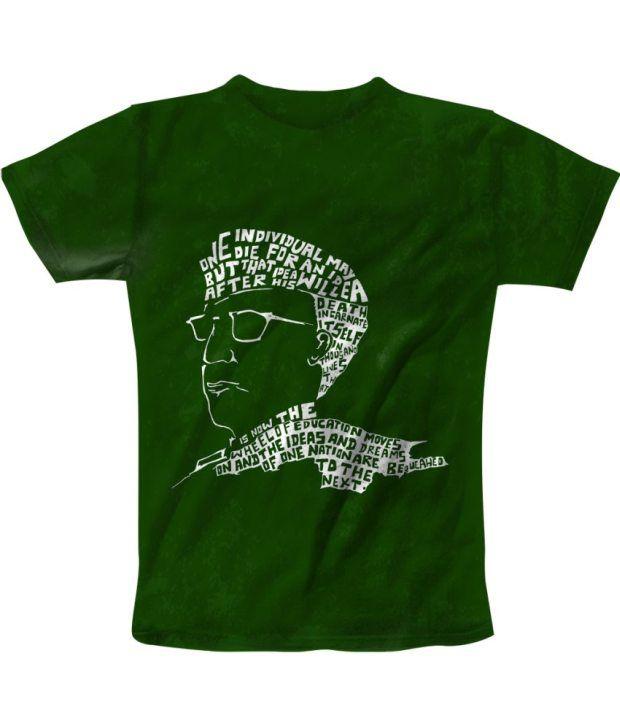 Freecultur Express Green Cotton Blend T-shirt