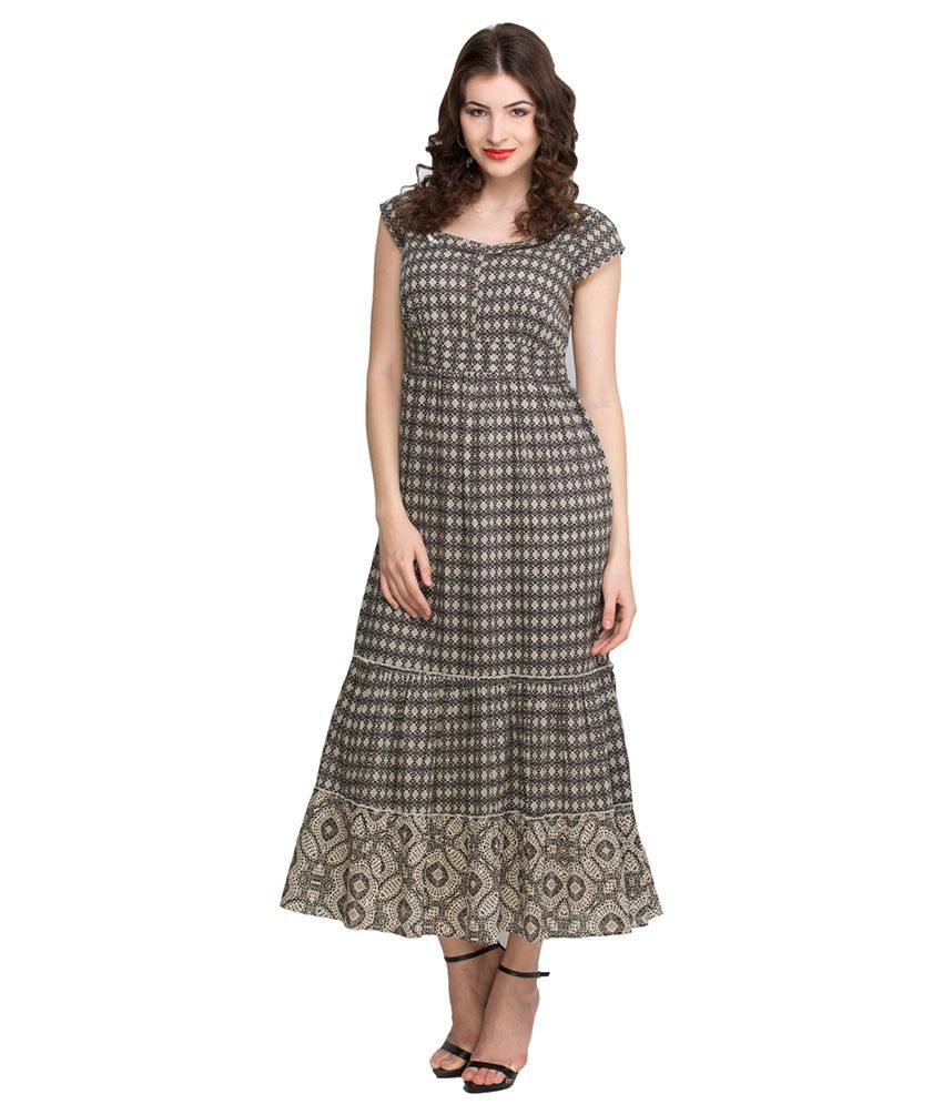 d8560a1b5d6e Oxolloxo Brown Cotton Maxi Dress - Buy Oxolloxo Brown Cotton Maxi Dress  Online at Best Prices in India on Snapdeal