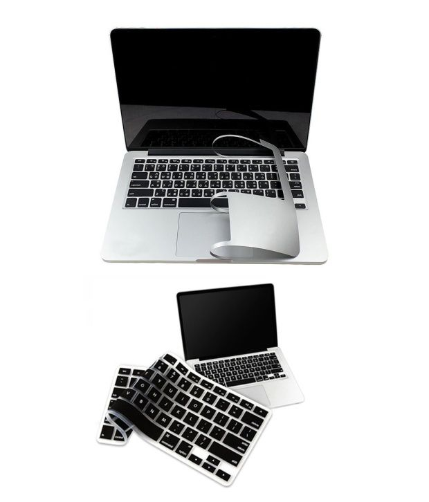 PINDIA Apple Macbook Pro 13 13.3 Inch Md313Hn/A & Md313LL/A Full Palm Guard Combo Black Keyboard Cover