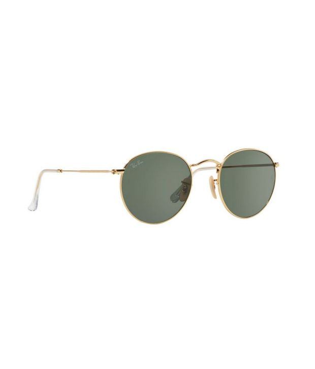 741b16ce412 Ray-Ban Round Metal Gold   Green Sunglasses (RB3447 001 50) - Buy ...