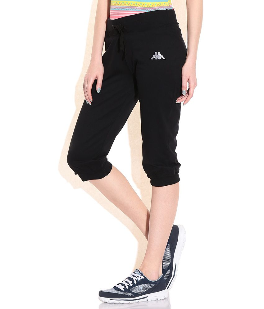 Buy Kappa Black Cotton Capris Online at Best Prices in India ...