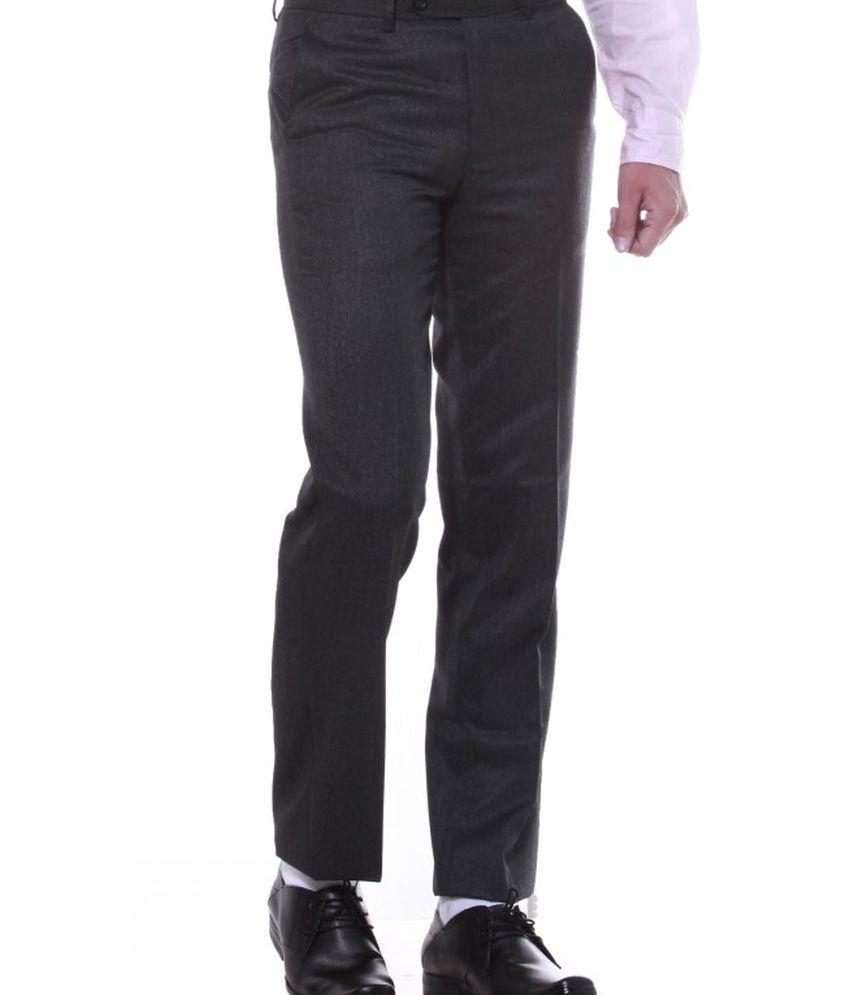 Sangam Apparels Grey Poly Viscose Formals Trouser