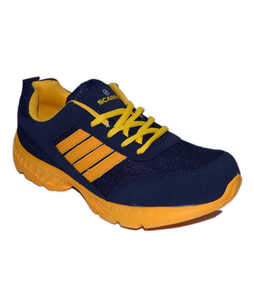 Shoekool Blue Mesh Running Men Sport Shoes