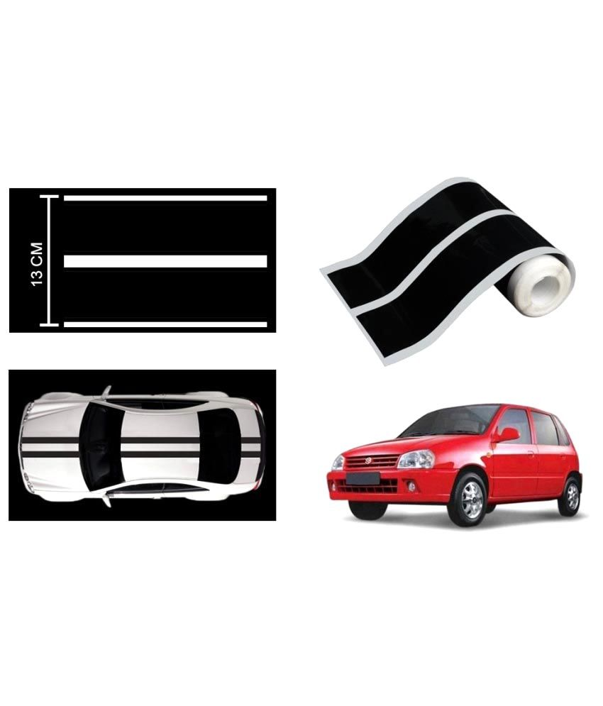 Speedwav car racing stripe graphic sticker black for maruti zen old buy speedwav car racing stripe graphic sticker black for maruti zen old online at low
