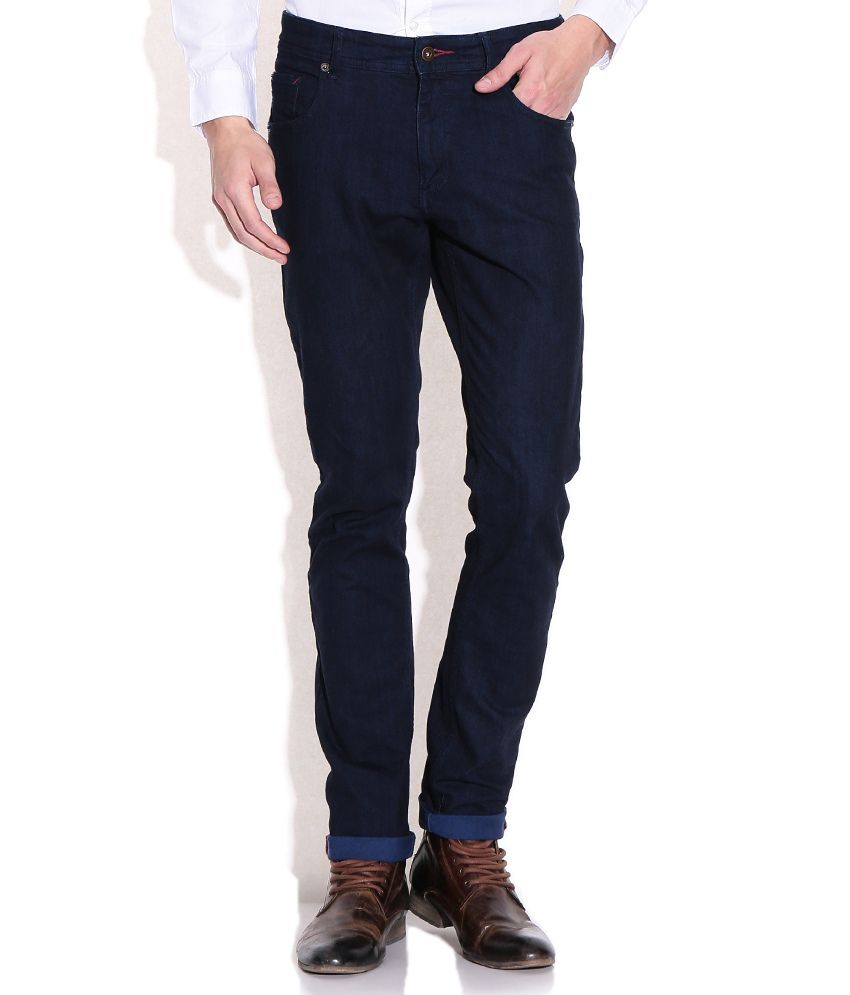 Ucla Blue Slim Fit Casual Trousers
