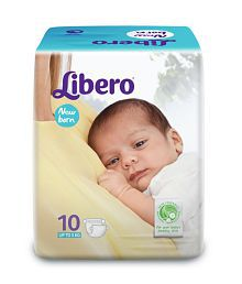 Libero New Born Open Diapers - (Set of 3 - 30Pcs)