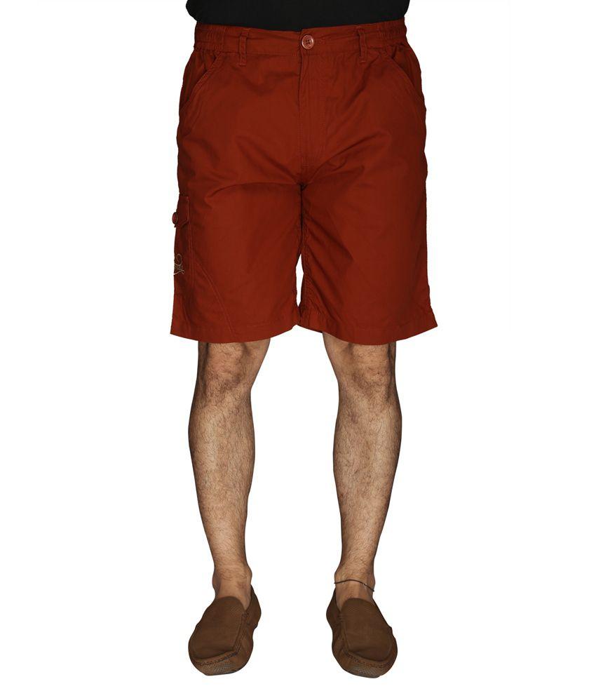 LD Active Red Cotton Men's Shorts