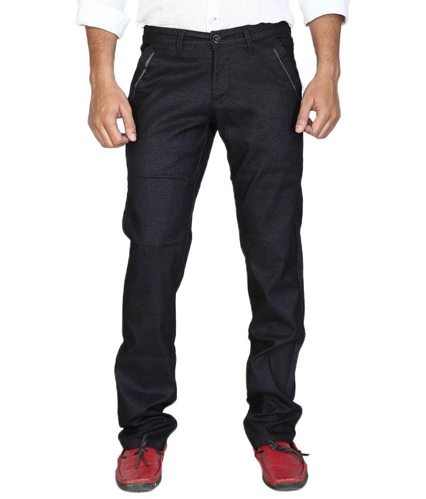 Urban Navy Stunning Black Casual Trouser For Men