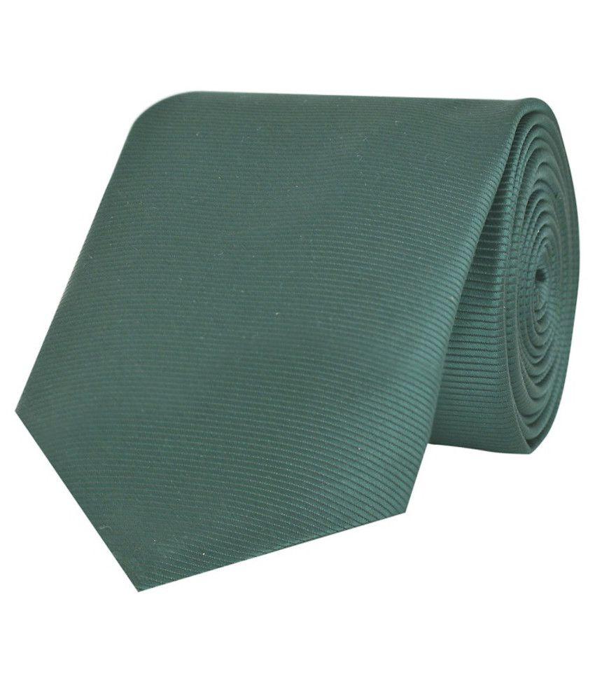 Tiekart Green Micro Fiber Men's Broad Necktie