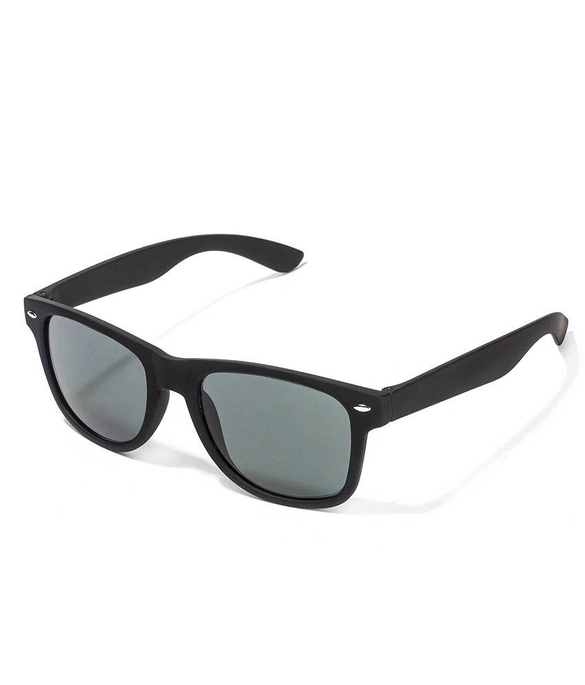 Vespl Elegant Matte Finish Black Wayfarer Sunglass-v-2301