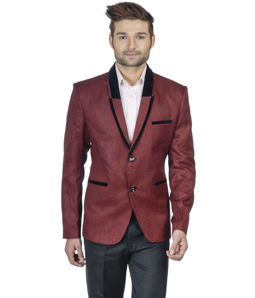Wintage Maroon Rayon Partywear Blazer
