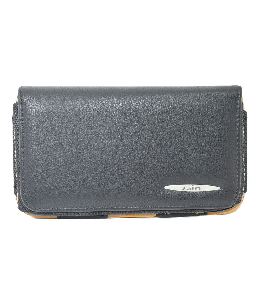 Indiacod Black Leather Belt Pouch For Xiaomi Mi Note Pro