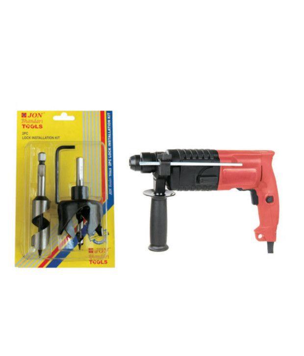 Jon Bhandari Adjustable Round Hole Saw And Rotary Hammer Deluxe Machine 20 Mm