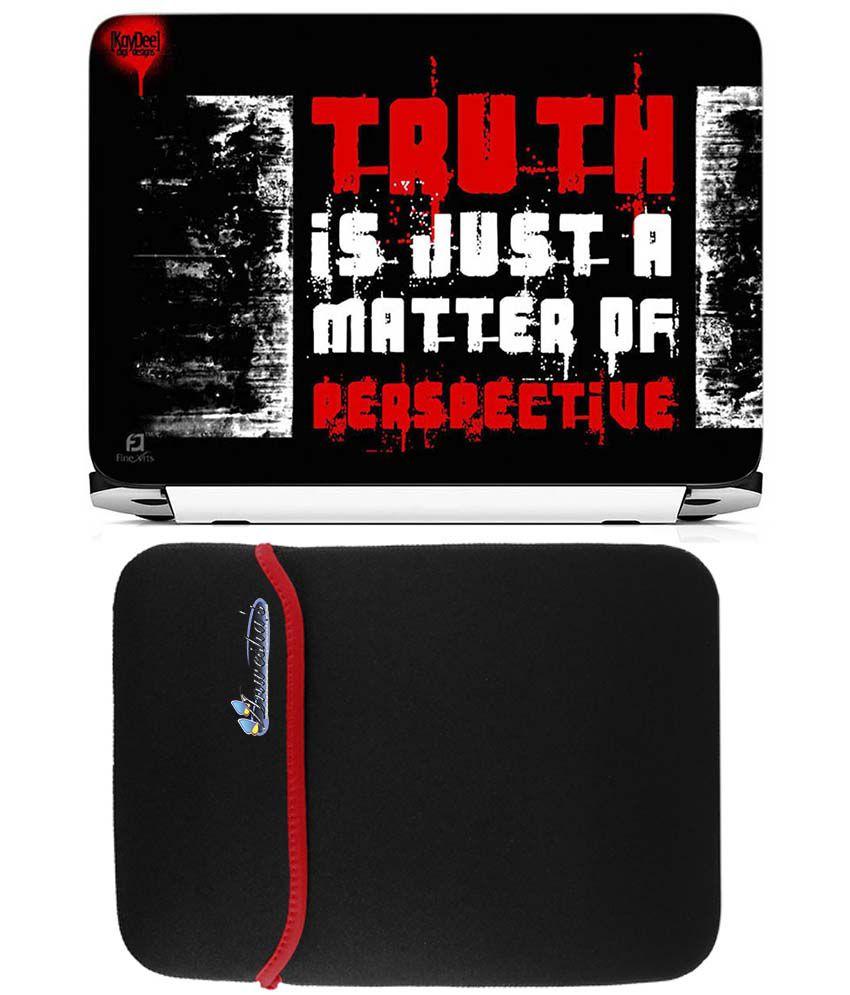 Anwesha's Reversible Laptop Sleeve With Laptop Skin - 15.6 Inch