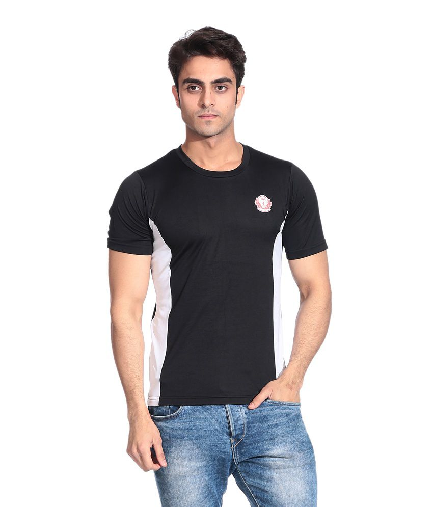 D Vogue London Black And White Dry Fit T Shirt