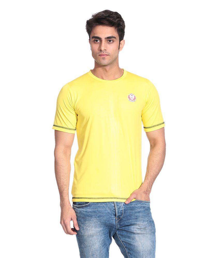 D Vogue London Yellow Dry Fit T Shirt