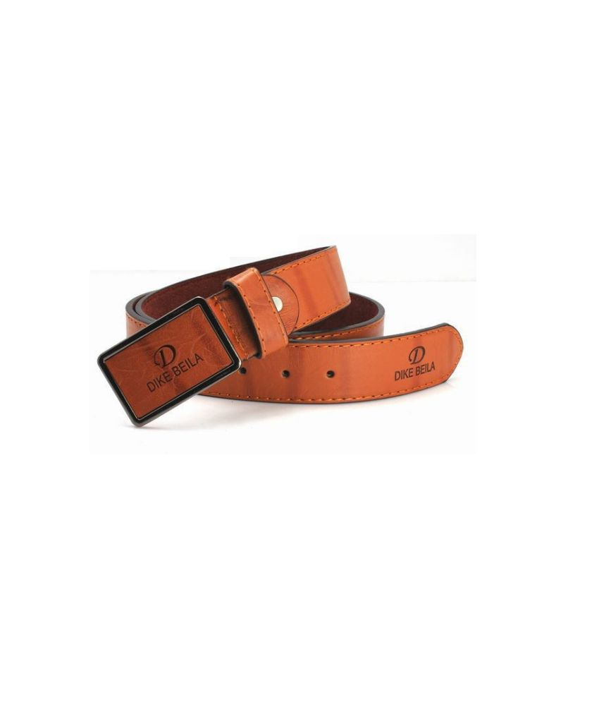 Fashionista Men Brown Casual Leather Belt