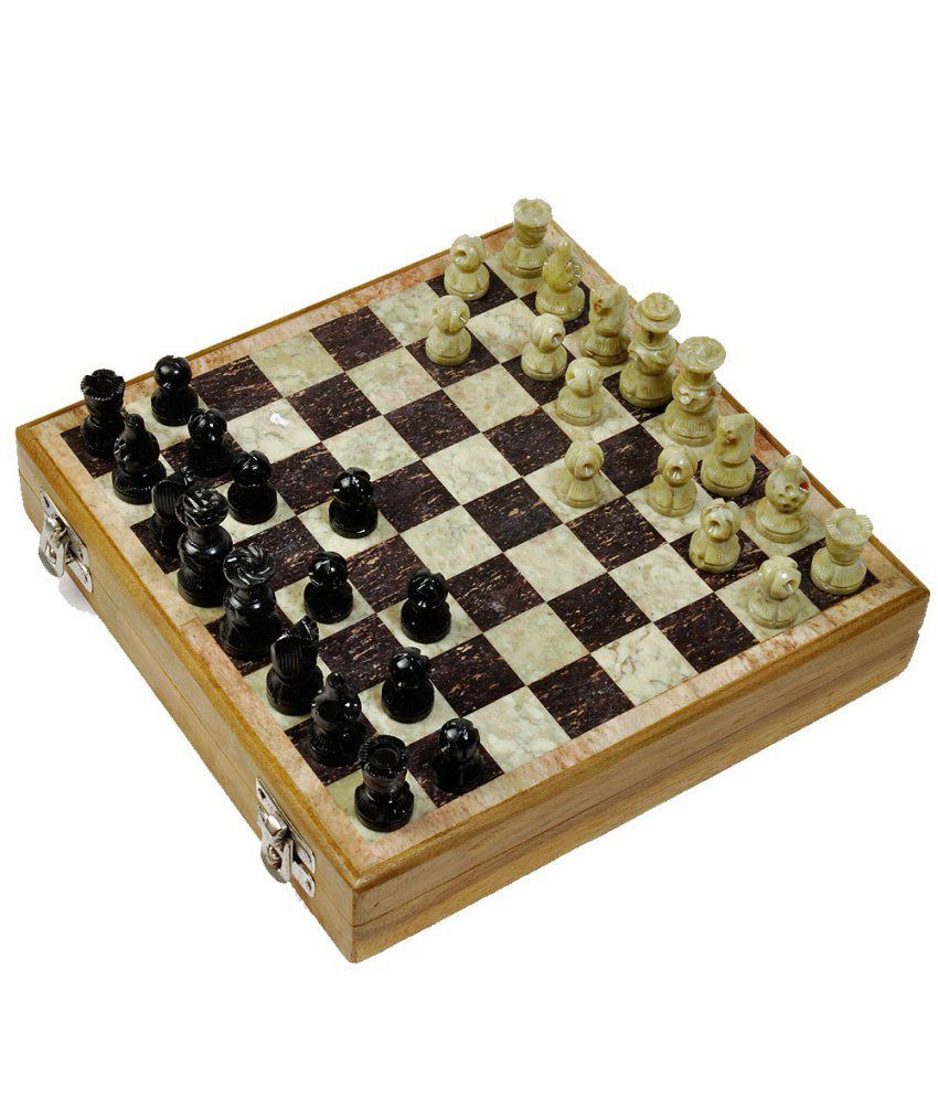 Ios Makrana Marble Chess Board And Pieces 8 Inches