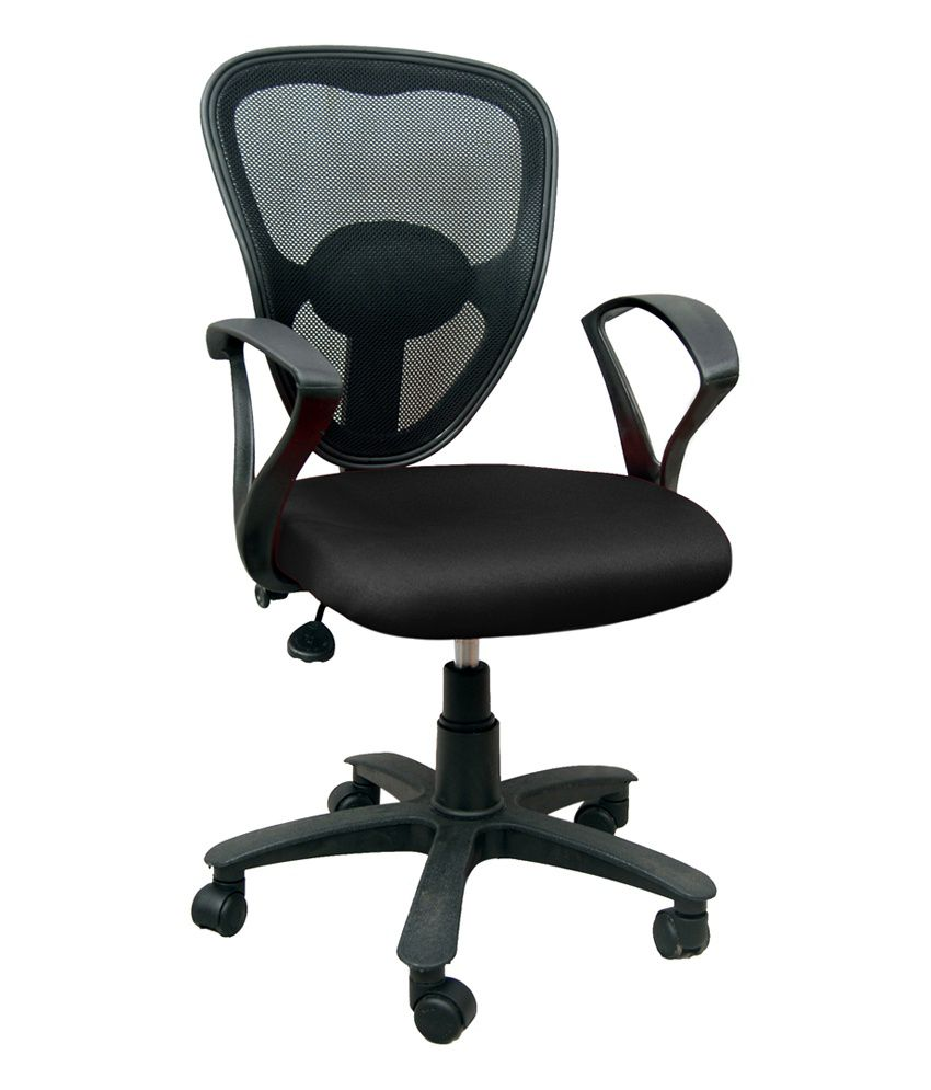 Revolving Office Chair In Black
