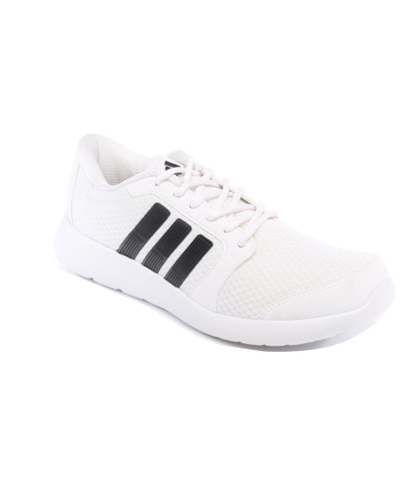 Adidas White Comfortable Sports Shoes