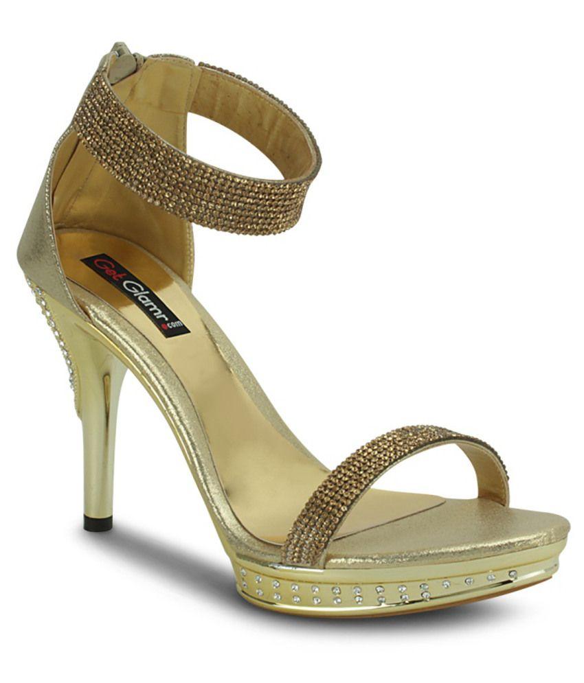 Get Glamr Gorgeous Golden Ethnic Sandals