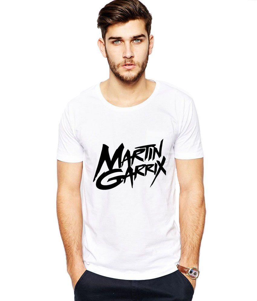 iLyk Martin Garrix Men White Printed T-Shirt