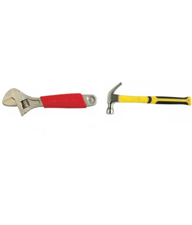 Jon Bhandari Adjustable Wrench And Claw Hammer 16 Oz