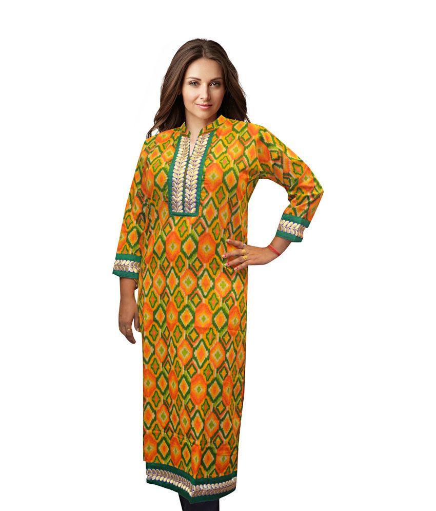 Komal Multi Color Cotton Printed Kurti